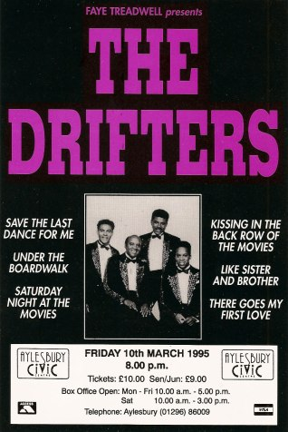 Darren's very first gig with The Drifters, 10th March, 1995 at Aylesbury Civic Centre.